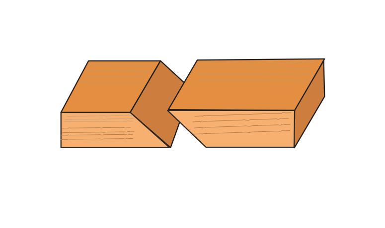 Bevel cut illustration