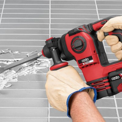 Take on the tough jobs with the 18V Brushless Rotary Hammer Drill